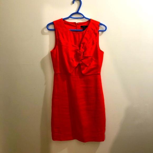 J. Crew linen sleeveless dress red orange colour